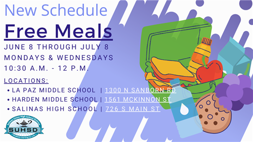 New Schedule Free Meals