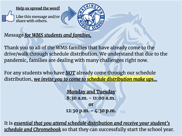 Schedule Distribution Flyer