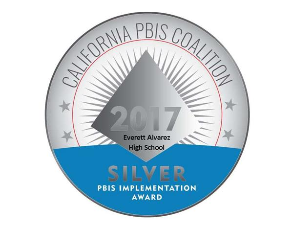 California PBIS Coalition recognizes EAHS with the Silver Medal Award