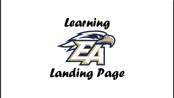 EAHS Learning Landing Page