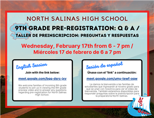 9th Grade Pre-Registration Q & A