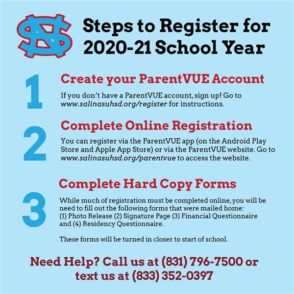 Registration for 2020-21 Now Open