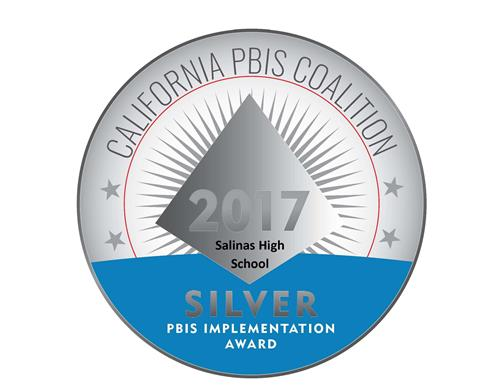 California PBIS Coalition recognizes SHS with Silver Medal