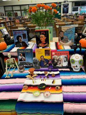 Dia de los Muertos altar in the Library