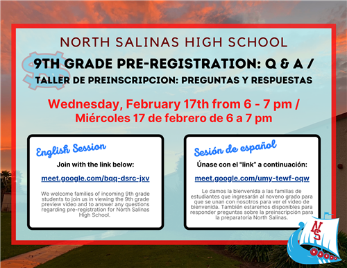 9th Grade Pre-Registration Q & A Flyer