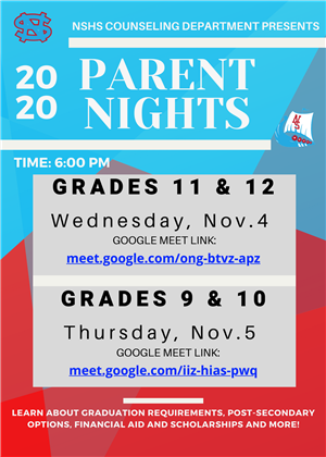 Parent Nights Fall 2020 (English)