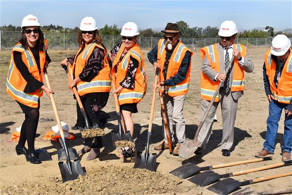 ground breaking at ROP Center