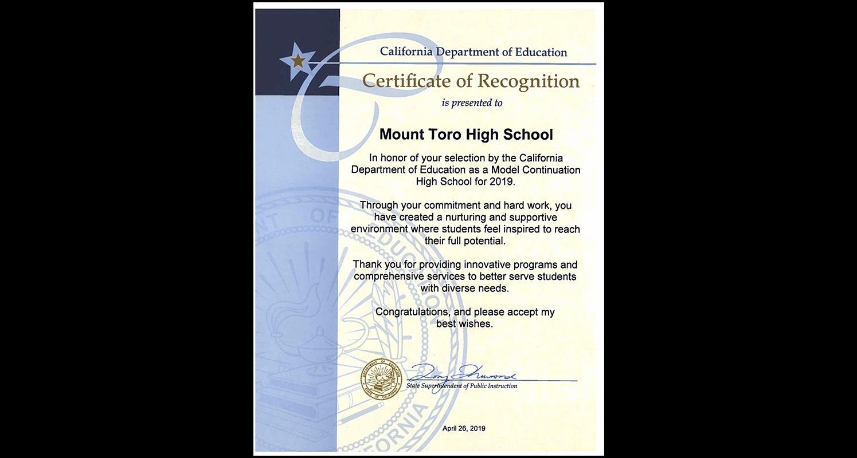 Mount Toro High School / Homepage